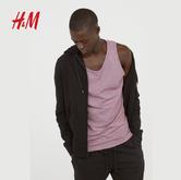H&M宽松透气纯色棉质背心HM0570033 39.9元包邮