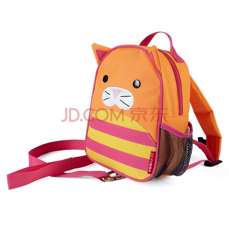 SKIP HOP zoo-let迷你背包(附防走失带) 卡通图案双肩包 婴幼儿儿童书包-小猫 1-4岁 美国进口 *2件+凑单品 179元(需用券,合89.5元/件)
