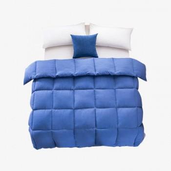 当当优品 单人冬被 水洗棉纯色羽丝春秋被芯150x200cm 蓝色