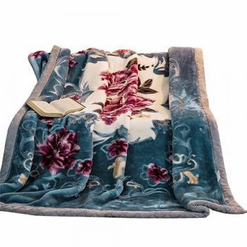 北极绒家纺 加厚拉舍尔毛毯盖毯(约8斤)