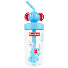 费雪(Fisher-Price) 宝宝吸管水杯 420ML 蓝色小象 *6件 109.58元包邮(双重优惠