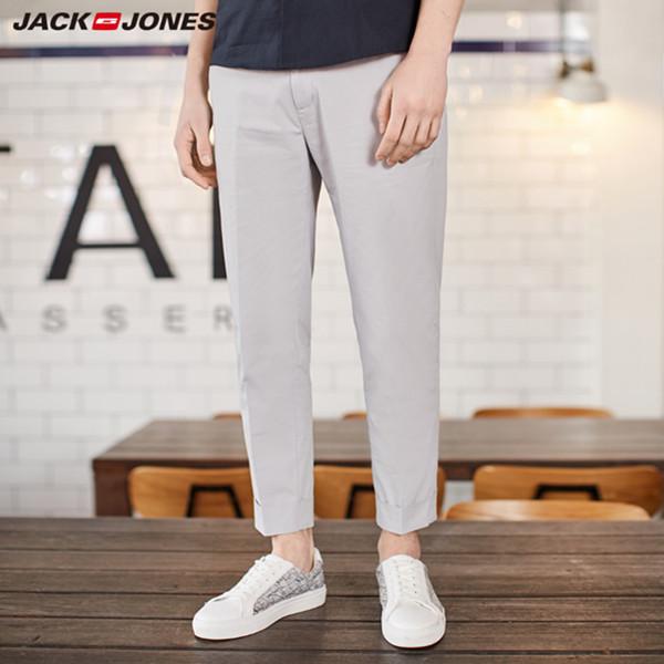 杰克琼斯新款时尚弹力修身休闲九分裤 199.5元包邮