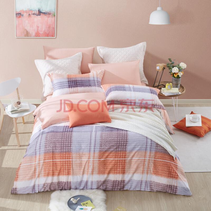 ¥399 博洋家纺(BEYOND)床品套件 全棉磨毛保暖花卉床单四件套 苏格拉1.5米床 200*230cm