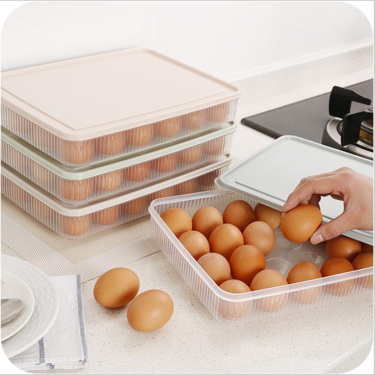 昶购 24格冰箱保鲜塑料鸡蛋盒 包邮8.9元