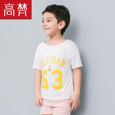 ¥29 高梵2018夏季新品宝宝t恤男童短袖T恤时尚中大童字母印花圆领上衣价格_品牌_图片_评论-某当网
