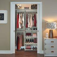 $57.99 ClosetMaid 55300 衣柜空间增大收纳架 白色/棕色