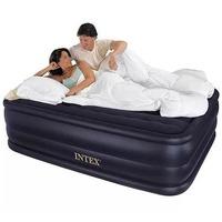$36.99 告诉你买充气床必须知道的重点! Intex Queen尺寸22英寸高充气床(内置电动充放气泵)
