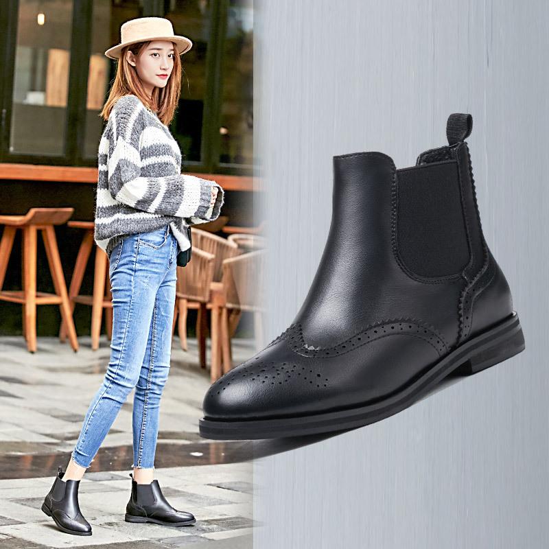 凯歌琳 女士短款马丁靴 58元(88-30)