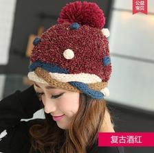 丽玫壹佰 韩版针织保暖帽 9.9元包邮(19.9-10券)