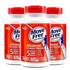 3瓶装|Schiff Move free维骨力氨糖软骨素片红瓶基础版 170粒∕瓶*3瓶 (美国品牌