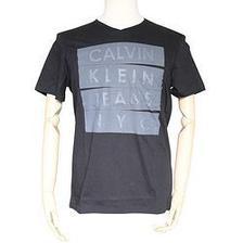 Calvin Klein Jeans 男士V领短袖T恤 37.9元
