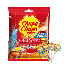 珍宝珠 混合味硬糖棒棒糖12支装激爽饮料味120g水果糖 聚会联谊佳品休闲零