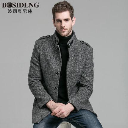 波司登(BOSIDENG) 羊毛呢子外套毛呢大衣 ¥198