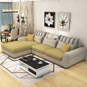 优涵 客厅家具组合 双人位+贵妃榻+茶几+电视柜¥2299