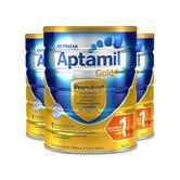 ¥178 临期品: Aptamil 爱他美 金装 婴儿配方奶粉 1段 900g 3罐