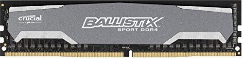 ¥430.85 Crucial Ballistix Sport 8GB 单只 DDR4 2400 MT/s (PC4-19200) CL16 DR x8 无缓冲 DIMM 288 针内存条 BLS8G4D240FSA