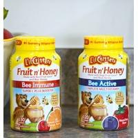 L'il Critters 纯天然水果蜂蜜味儿童复合维生素软糖 120粒