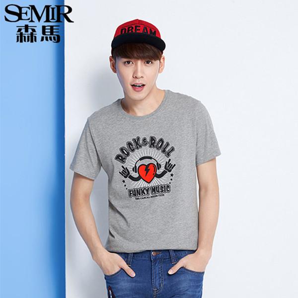 森马夏季韩版时尚圆领短袖T恤 特价39.9元包邮