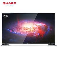 SHARP夏普LCD-40SF466A-BK 40英寸电视   6期免息分期 再送499元爱奇艺会员(1599元