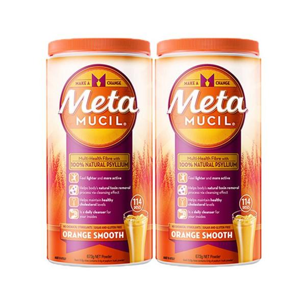 Metamucil美达施膳食纤维粉673克*2罐 活动好价295元包邮含税