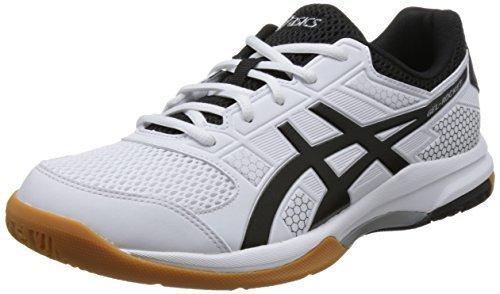 ¥244.5 ASICS 亚瑟士 男 羽毛球鞋 GEL-ROCKET 8 B706Y-0190 白色/黑色 42 (US 8.5)