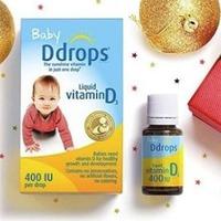 $14.16 Ddrops婴儿维生素D3滴剂 400IU 90滴