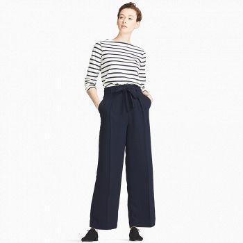UNIQLO优衣库 女装 条纹船领T恤(长袖)