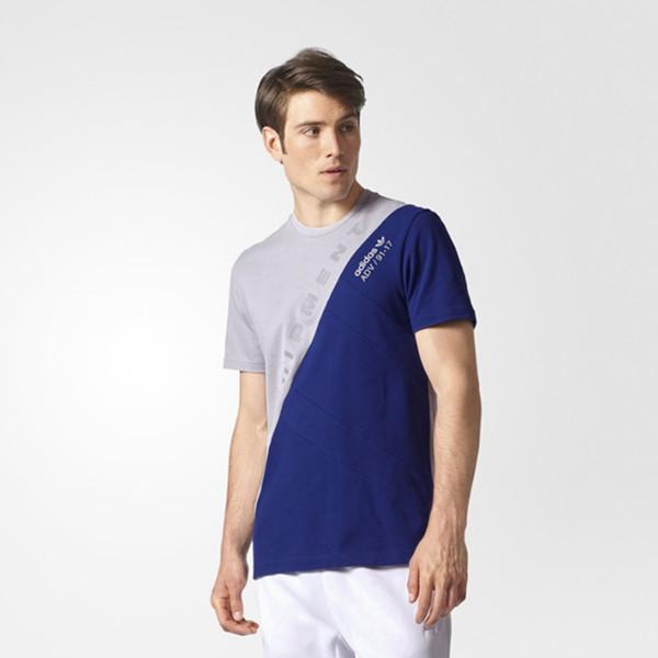 阿迪达斯三叶草男子短袖上衣神秘墨水蓝BS2780 特价160元包邮