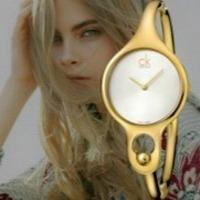 史低价 $68 (原价$380) Calvin Klein Air 系列手镯式镀金时装女表