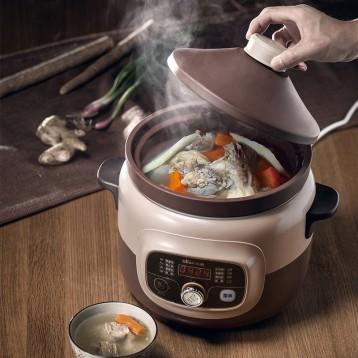 独家券!Bear小熊电器 紫砂电炖锅4L 煮粥煲汤炖汤 6.6折 ¥198100元