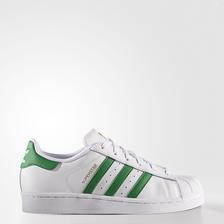 金标加绿尾!adidas Superstar 大童款 贝壳头板鞋 $60(转运到手约¥324)