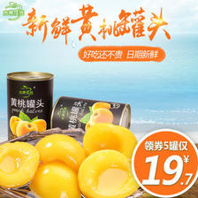 水果佳园 砀山黄桃罐头 425g *5瓶  券后18.6元