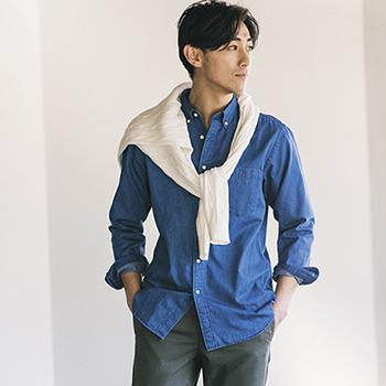 UNIQLO优衣库 男装牛仔衬衫