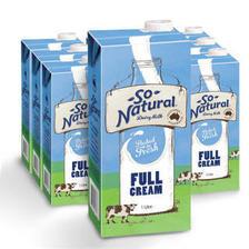 澳洲进口 澳伯顿(So Natural)UHT进口牛奶 全脂 1Lx12箱装 *2件 145.48元(合72.74