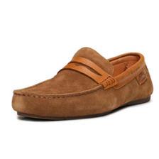 久穿舒适!JUMBOUGG 男款拼接反绒皮豆豆鞋 223.12元包邮(需用券)