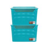 Citylong 禧天龙 塑料收纳篮 带盖 24L 2个装 *3件 87元 折29元/件