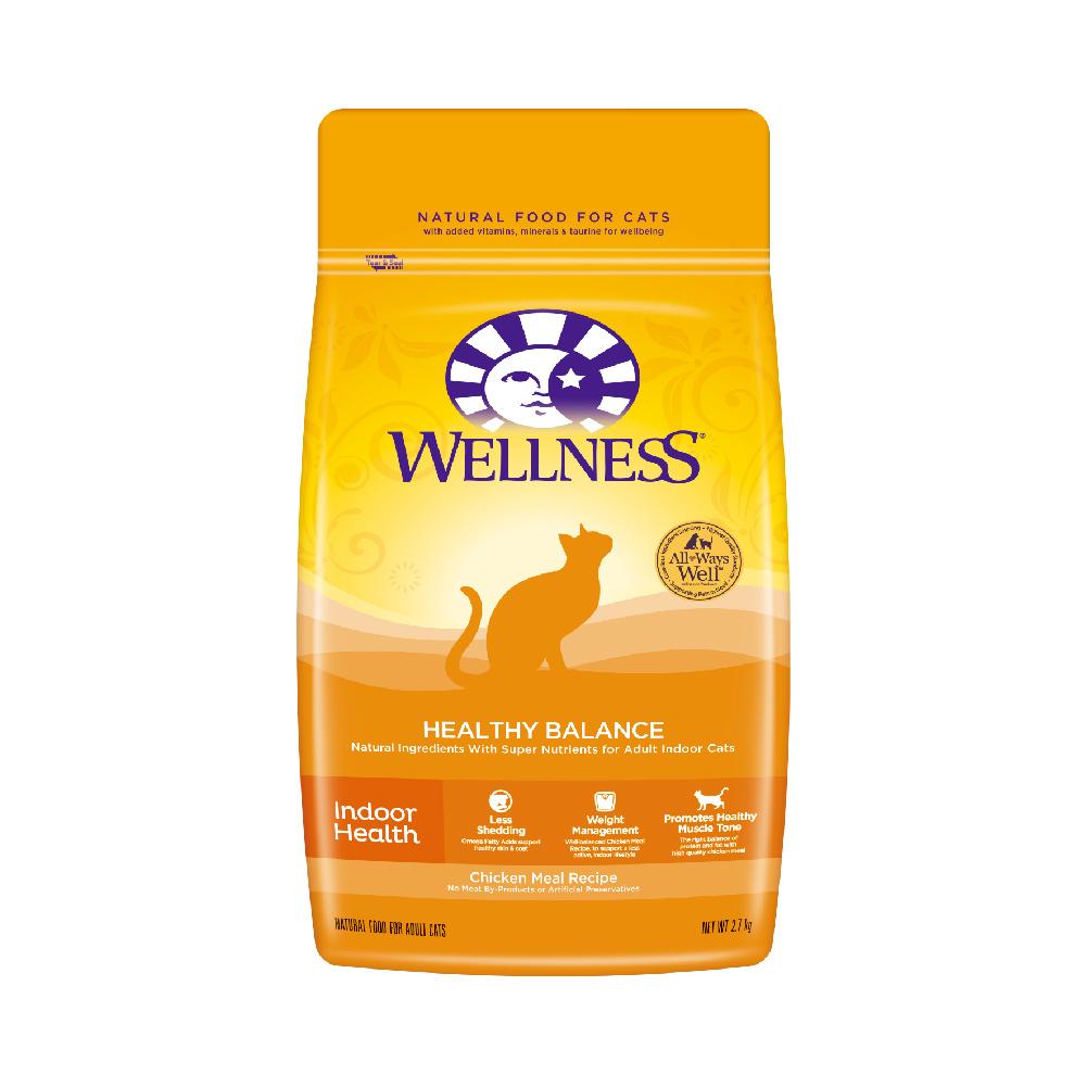 Wellness 天然室内成猫粮 健体配方 2.7kg *2件 372元(需用券,合186元/件)