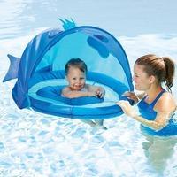 $16.06 Swim School 婴儿防晒戏水圈,蓝色