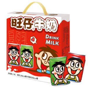 旺旺 旺仔牛奶 儿童早餐奶营养健康美味 原味245ml×8罐+苹果味245ml×4罐 *4件 139.6元(合34.9元/件)