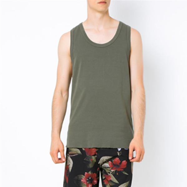 Osklen军绿色全棉纯色无袖T恤 735.16元包邮包税
