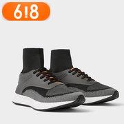 618新低:ZARA男款灰色运动休闲短靴 199元'