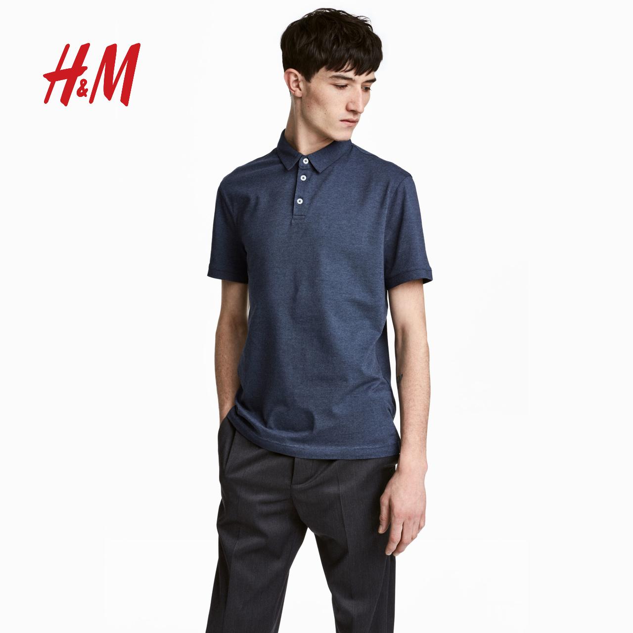 H&M 修身弹力Polo衫 HM0570004 65元