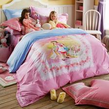 罗莱 儿童全棉超梦幻粉色公主系四件套 299元(需用码)