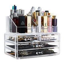 BAOYOUNI宝优妮透明化妆品收纳盒抽屉式浴室桌面口红盒梳妆台护肤品整理盒 D