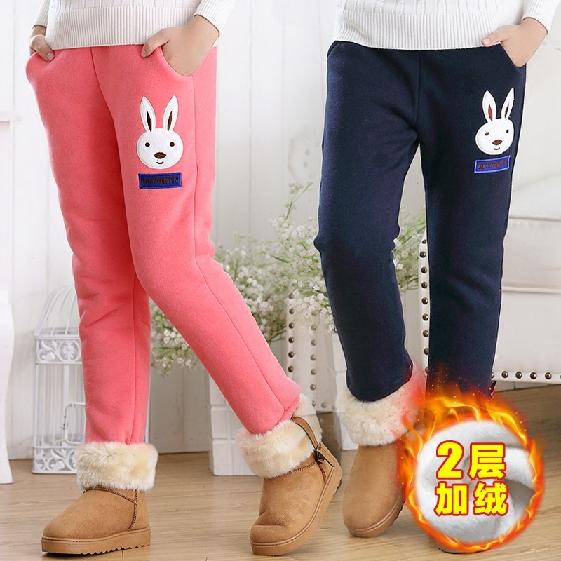 ¥29.8 女中大童加厚加绒运动裤 儿童棉裤