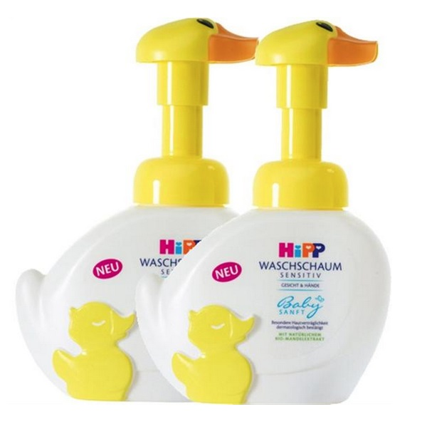 Hipp 喜宝 免敏无泪宝宝泡泡洗手洗脸液 250ml*2瓶