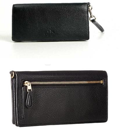 蔻驰(COACH) Pebbled Leather Slim Wallet 女士真皮钱包 ¥334