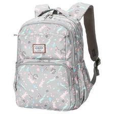 卡拉羊中小学生书包大容量女双肩包休闲旅行背包CX5357浅灰彼得兔 109.9元