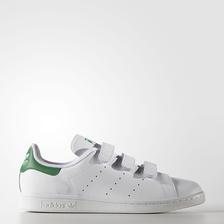 魔术贴绿尾!adidas 阿迪达斯 Stan Smith 休闲运动鞋 $44.99(转运到手约¥410)