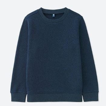 天猫 UNIQLO优衣库 儿童针织摇粒绒圆领T恤(长袖) 59元包邮 已降20元